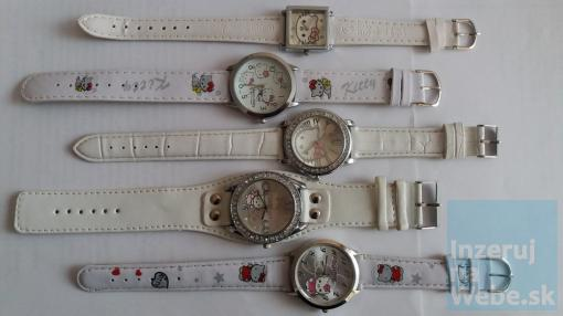 Hello Kitty hodinky v bielej farbe